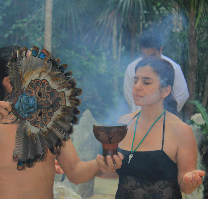 Shaman Ceremony at the Riviera Maya, Mexico